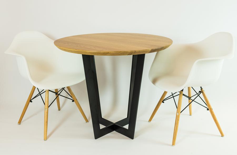 stół okrągły Gaspar - struktura czarny matowy