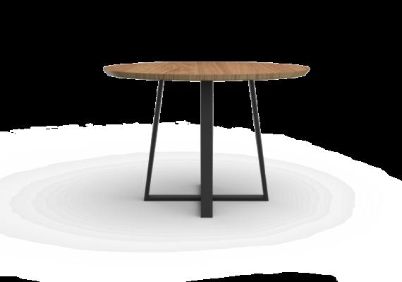 Stół okrągły drewniany, styl skandynawski