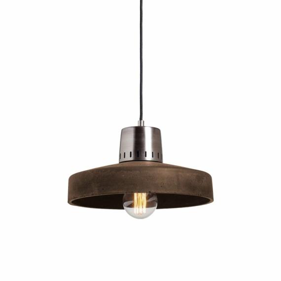 wisząca lampa betonowa chocolate
