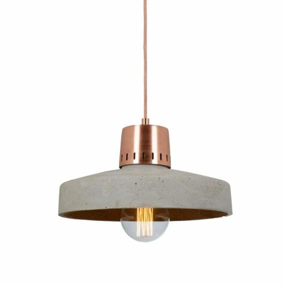 wisząca lampa z betonu