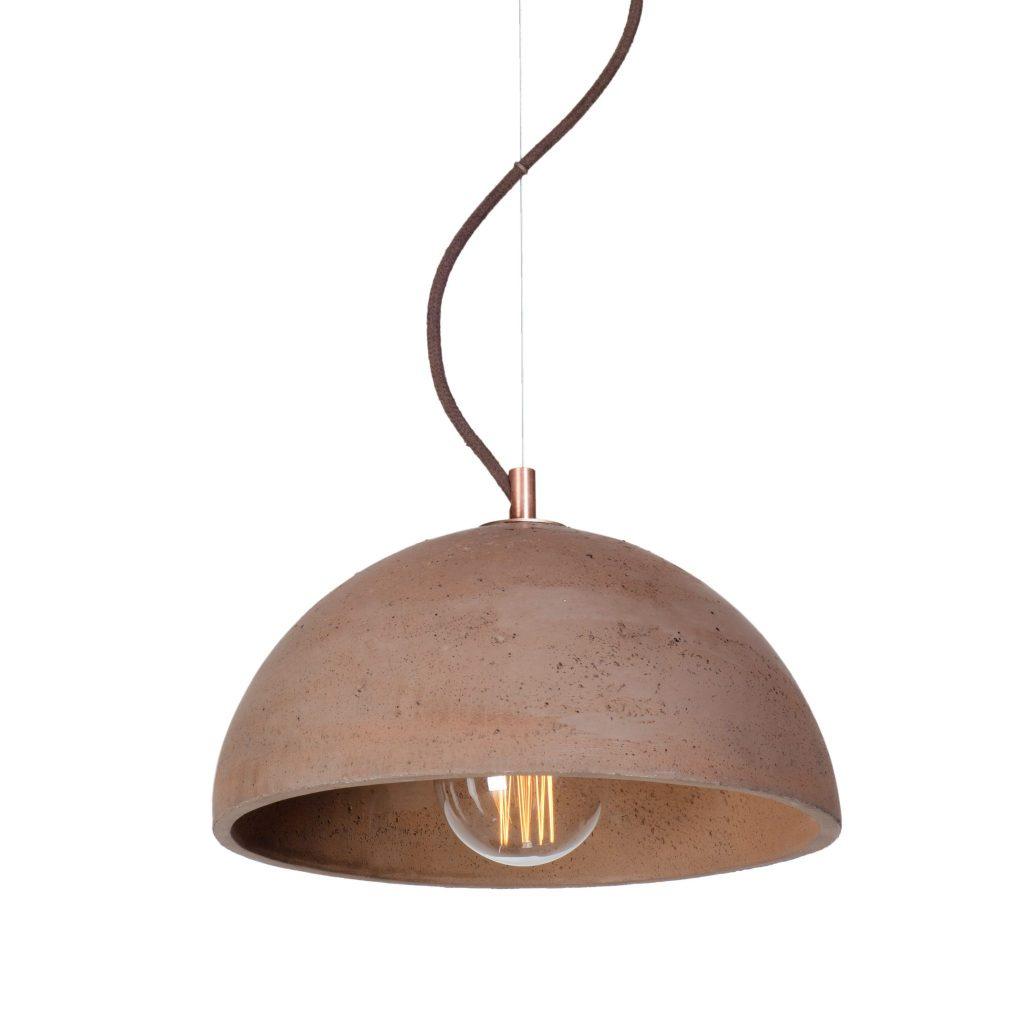 lampa betonowa sfera m chocolate