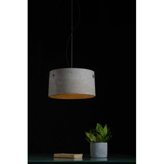 betonowa lampa na stół do jadalni