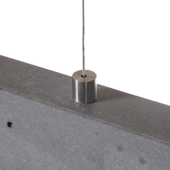 lampa nad stół wykonana z betonu