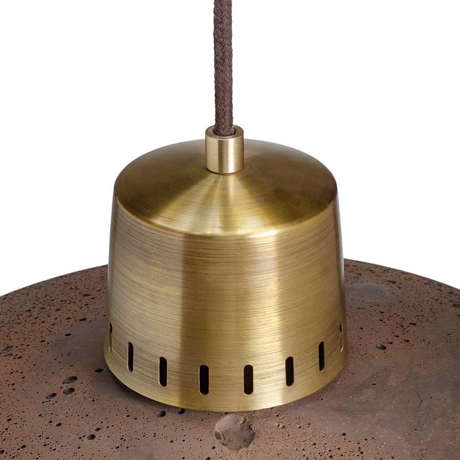 lampa z betonu wykończenie mosiądz