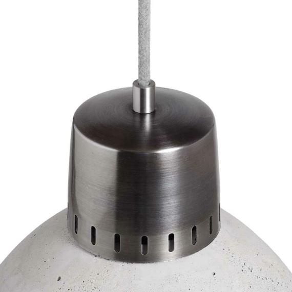 lampa z betonu wykończenie stal nierdzewna