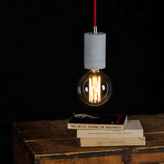 lampa betonowa nad blat kuchenny