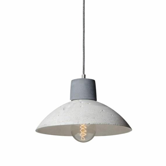 minimalistyczna lampa z betonu