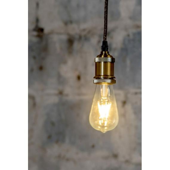 lampa wisząca na sznurze jutowym