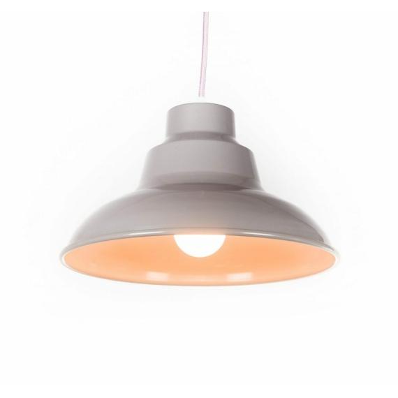beżowa lampa sufitowa