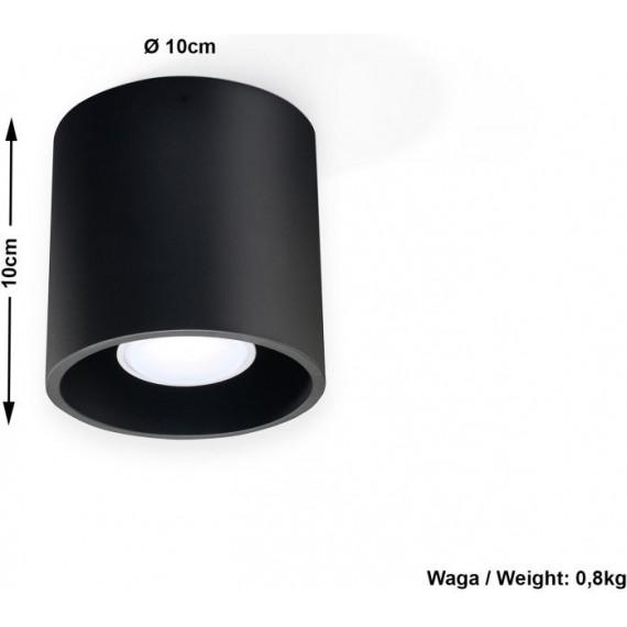 plafon sufitowy czarny tuba