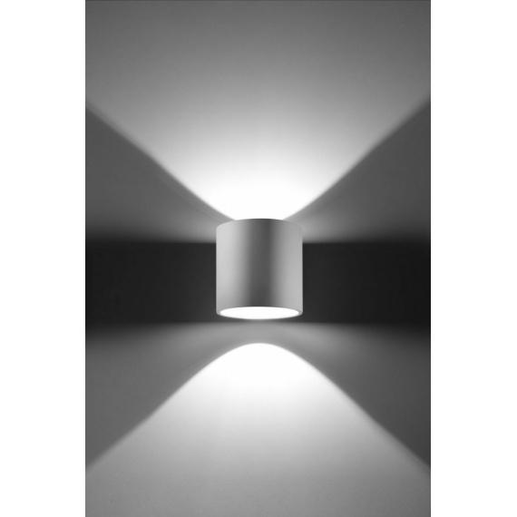 aluminiowy biały kinkiet ścienny walec