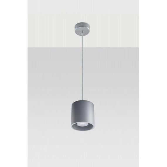 nowoczesna lampa Orbis 1 szary