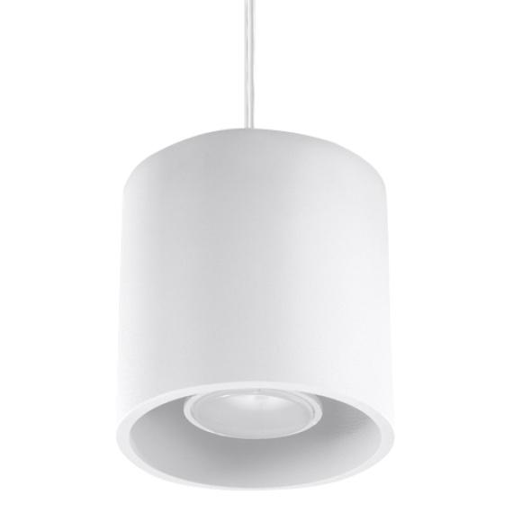 biała nowoczesna lampa
