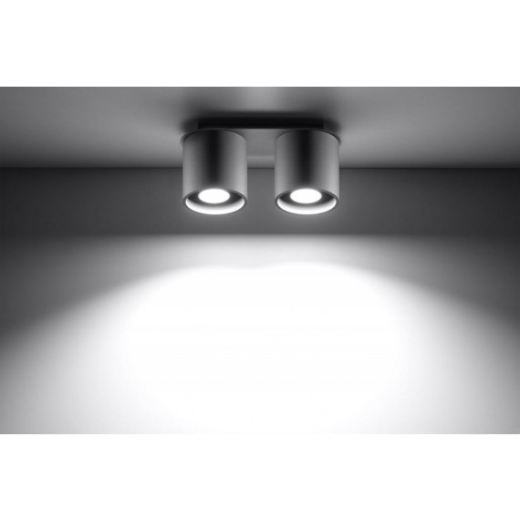 szara lampa sufitowa plafon
