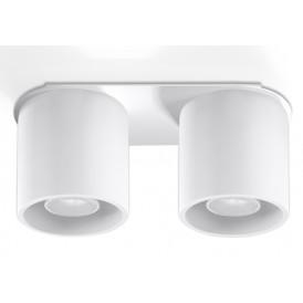 biała lampa sufitowa plafon