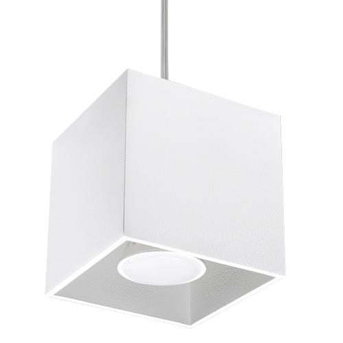 kwadratowa lampa wisząca kolor biały