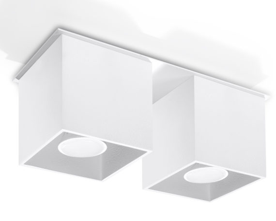 kwadratowy plafon downlight