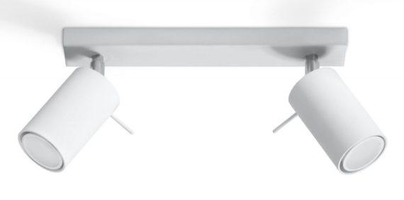 nowoczesny biały plafon Ring02
