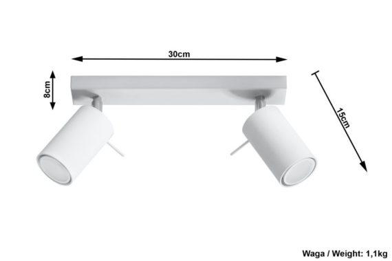 nowoczesny biały plafon Ring
