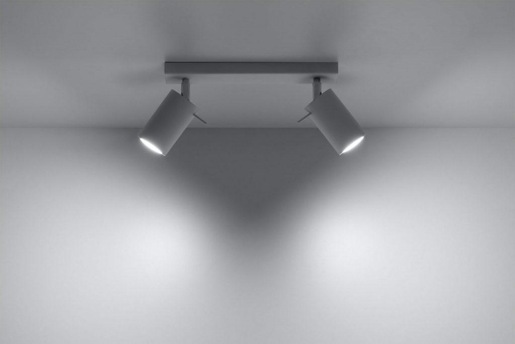 nowoczesny biały plafon Ring03