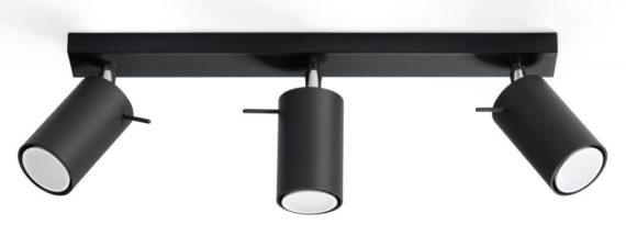nowoczesny czarny plafon spot03