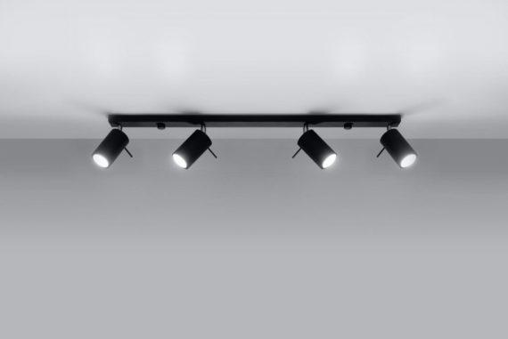 lampa szyna czarna stalowa