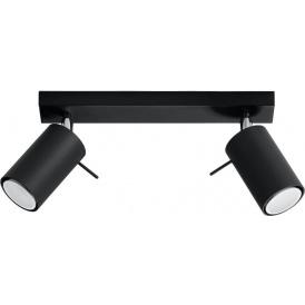 Nowoczesny plafon lampa sufitowa Ring 2 czarny