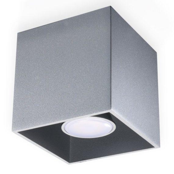 lampa sufitowa biała kostka