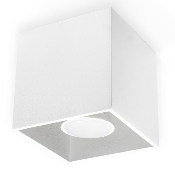 lampa sufitowa biała kostka 02