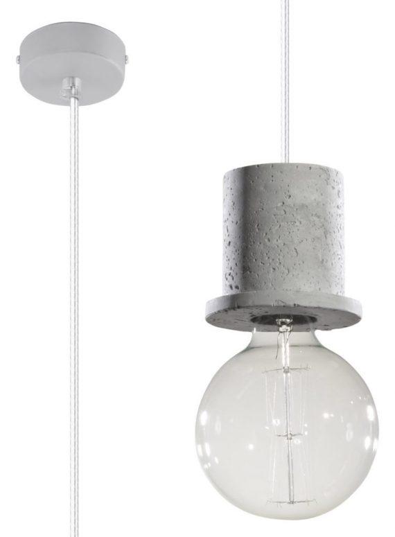 betonowa lampa pojedyńcza edison