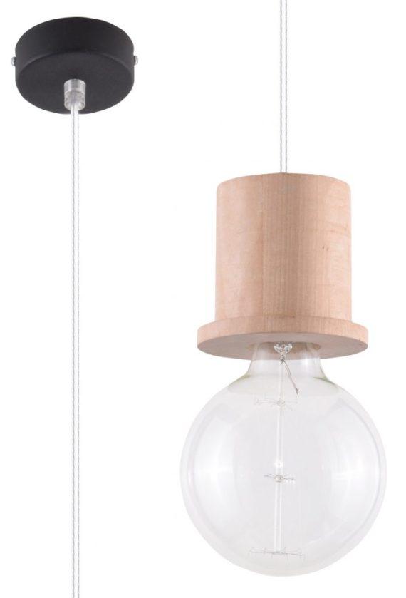 nowoczesna lampa pojedyńcza drewniana