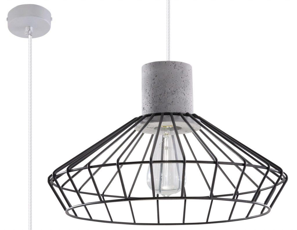 druciana lampa industrialna