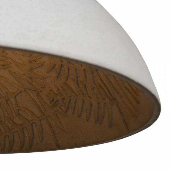 lampa betonowa motyw liście 03