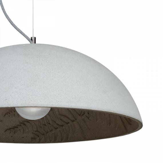 lampa betonowa z motywem jungle 03