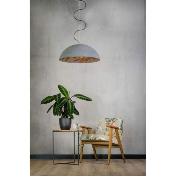 lampa betonowa z motywem jungle