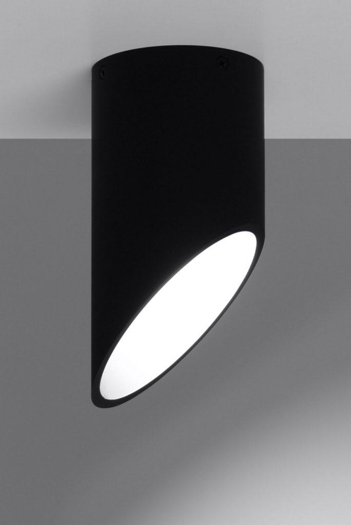 nowoczesny plafon tuba jak rurka penne czarny 03