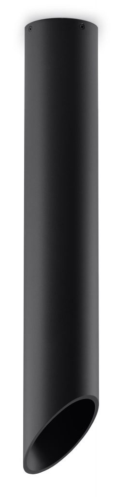 lampa sufitowa walec plafon czarny 06