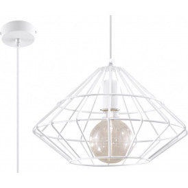 lampa w stylu industrialnym druciana biała