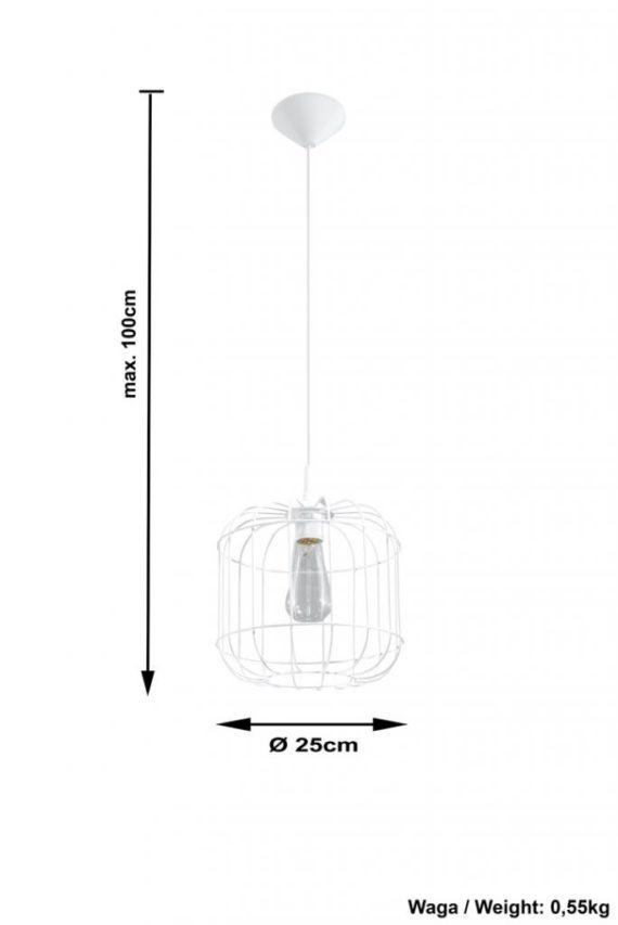 lampa metalowa w stylu skandynawskim Celta 03