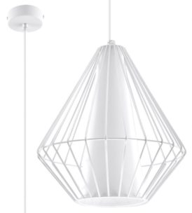 lampa druciana biała