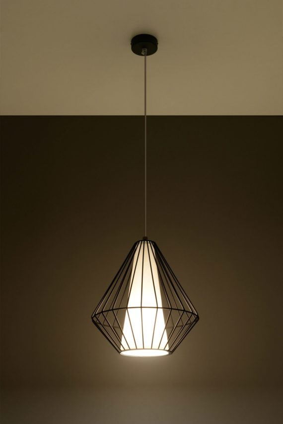 lampa metalowa druciana Demi