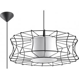 Czarna druciana lampa Salerno