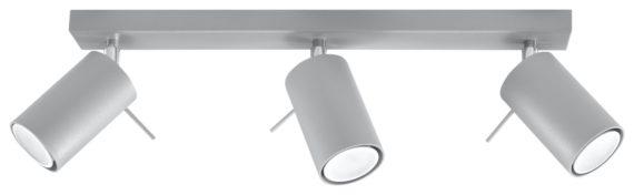 Spot listrwa oświetleniowa lampa sufitowa Ring 3 el kolor szary