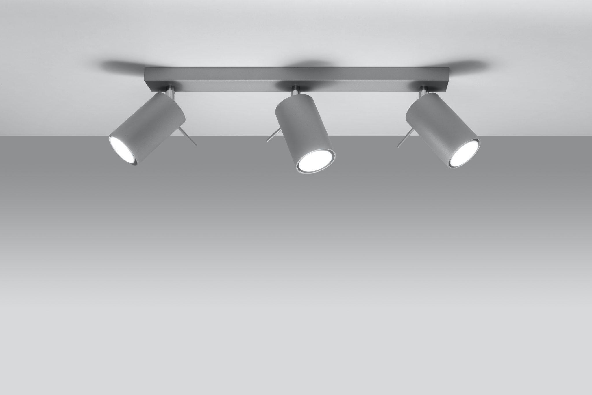 Spot listrwa oświetleniowa lampa sufitowa Ring 3 el kolor szary 03
