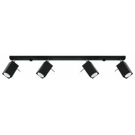 Lampa Sufitowa Spot Regulowany Plafon MERIDA 4L Czarny 03