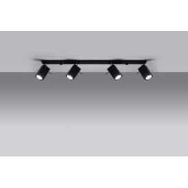 Lampa Sufitowa Spot Regulowany Plafon MERIDA 4L Czarny