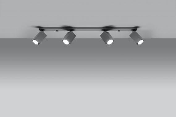 Lampa Sufitowa Spot Regulowany Plafon MERIDA 4L Szary