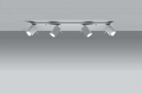 Lampa Sufitowa Spot Regulowany Plafon MERIDA 4L Biały 01