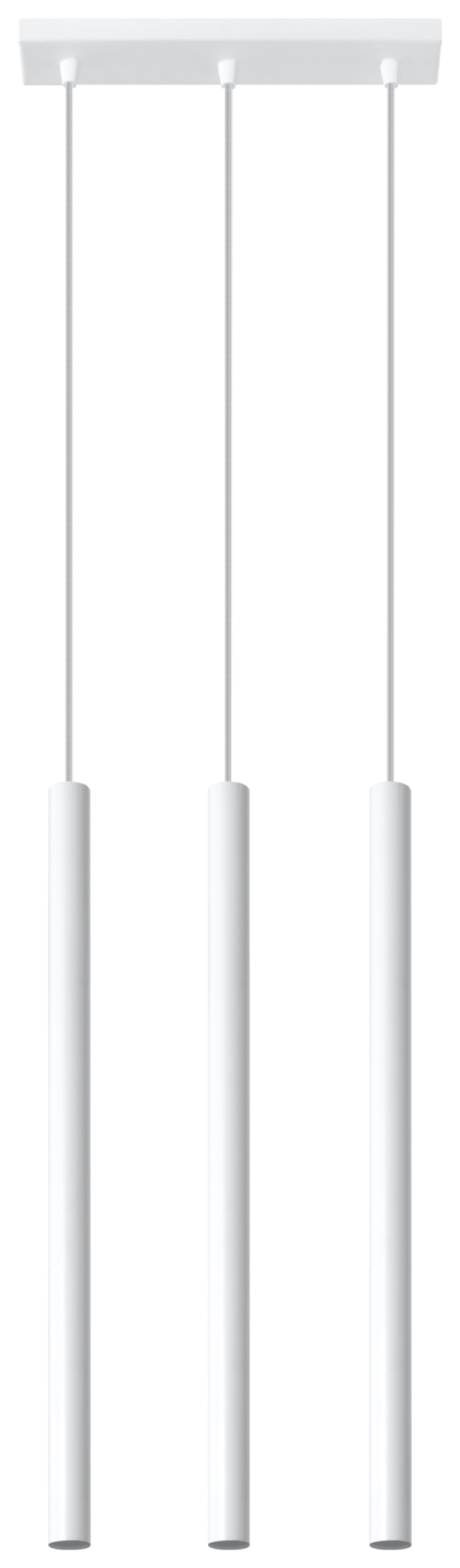 Designerska lampa wisząca Pastelo 3 punktowa 03 biała 01