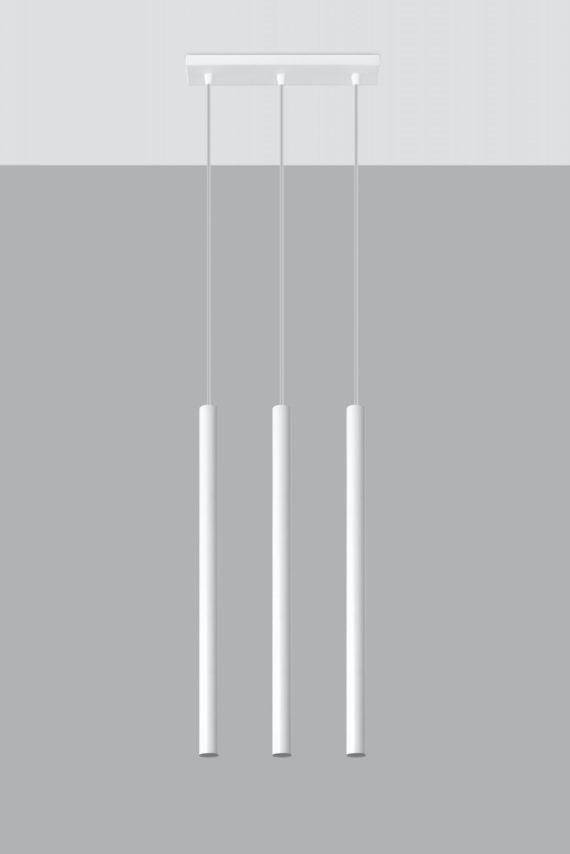 Designerska lampa wisząca Pastelo 3 punktowa 03 biała 02